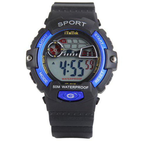 Best iTaiTek 816 Military LED Watch Date Week Alarm Chronograph Sports Army Wristwatch - BLUE  Mobile