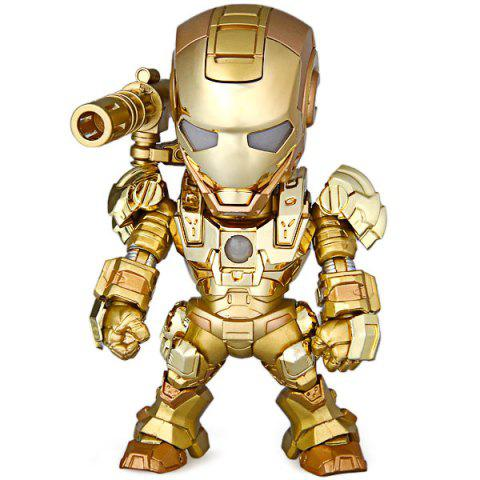 Shop Cool Funny Appearence Mini Iron Man Movable Joints PVC Figure Model Doll with Weapon Replaceable Hands - GOLDEN  Mobile