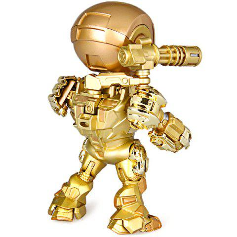Fashion Cool Funny Appearence Mini Iron Man Movable Joints PVC Figure Model Doll with Weapon Replaceable Hands - GOLDEN  Mobile