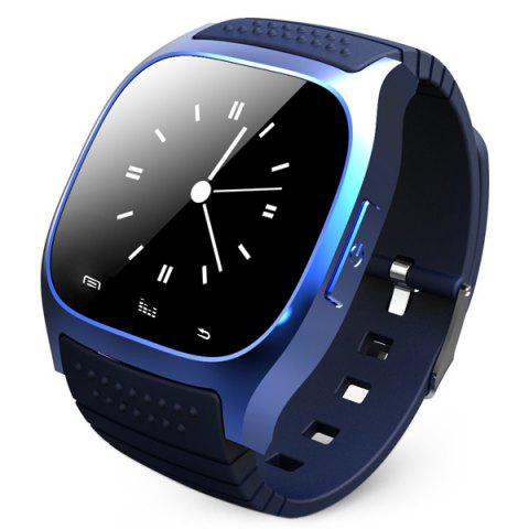 New RWATCH M26 Bluetooth Watch LED Light Display with Dial / Call Answer / SMS Reminding / Music Player / Anti-lost / Passometer / Thermometer for Samsung / HTC - BLUE  Mobile
