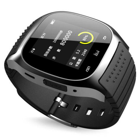 Buy RWATCH M26 Bluetooth Watch LED Light Display with Dial / Call Answer / SMS Reminding / Music Player / Anti-lost / Passometer / Thermometer for Samsung / HTC - BLACK  Mobile