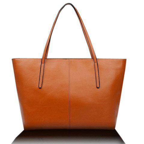 Fancy Elegant Pu Leather and Solid Color Design Women's Shoulder Bag