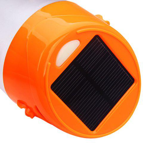 Sale Solar Charge Bright LED Cup Camping Lamp Tent Light or Outdoor Flashlight - ORANGE  Mobile
