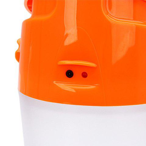 Chic Solar Charge Bright LED Cup Camping Lamp Tent Light or Outdoor Flashlight - ORANGE  Mobile