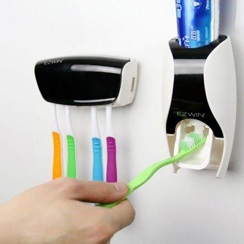 EZ BR01 Automatic Toothpaste Dispenser Squeezer Toothbrush Holder Set Bathroom Household Gadgets от Rosegal.com INT