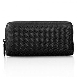 Concise Zip and Weaving Design Women's Clutch Wallet