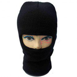 Balaclava Mask Windproof Solid Color Outdoor Sports Knitted Hat For Men and Women - COLOR ASSORTED