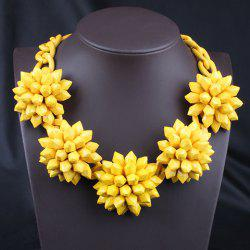 Cute Women's Rhinestone Solid Color Flower Necklace