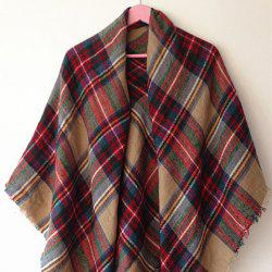 Classical Tartan Design Scarf For Women - KHAKI