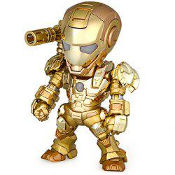 Cool Funny Appearence Mini Iron Man Movable Joints PVC Figure Model Doll with Weapon Replaceable Hands