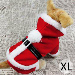Pet Clothes Dog Christmas Clothes with Hat for XL Size (Red)