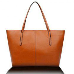 Elegant Pu Leather and Solid Color Design Women's Shoulder Bag -