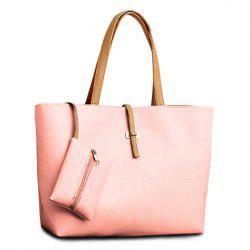 Pretty Style Candy Color and Buckle Design Women's Shoulder Bag