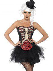 Fashionable Rib Large Intestine Pattern Devil Halloween Costume For Women