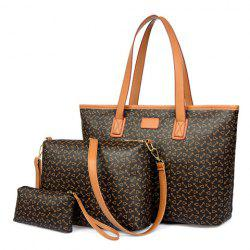 Fashion PU Leather and Anchor Print Women's Shoulder Bag -