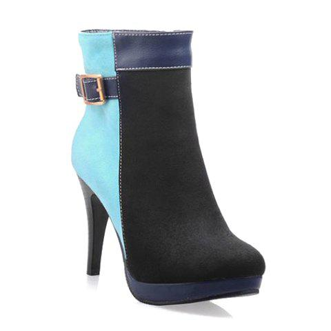 Store Sexy Splicing and Color Block Design Women's Short Boots