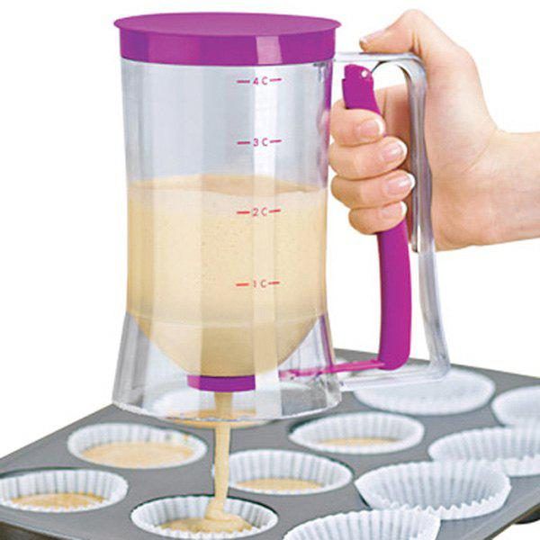 Cake Batter Dispenser with Measuring Label for Cupcakes MuffinsHOME<br><br>Type: Batter dispenser; For: Making pancakes, waffles, cakes, muffins and more; Material: Plastic; Features: Easy to use; No messy drips; Color: Purple; Product weight: 0.276 kg; Product size (L x W x H): 17.00 x 11.00 x 8.50 cm / 6.69 x 4.33 x 3.35 inches; Package size (L x W x H): 25.00 x 13.00 x 10.00 cm / 9.84 x 5.12 x 3.94 inches;