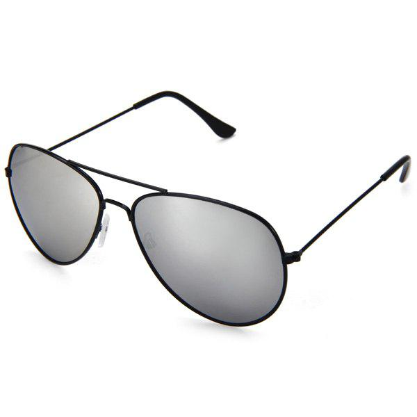 Fashionable UV400 Metal Frame PC Sunglasses Eyewear Retro Eyes Protector Outdoor Activities Leisure NecessariesACCESSORIES<br><br>Color: SILVER; Type: Sunglasses; Gender: Unisex; Anti-UV level: UV400; Color: Green,Purple,Silver,Tea-color;