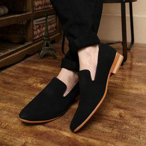 Laconic Suede and Pointed Toe Design Men's Loafers -