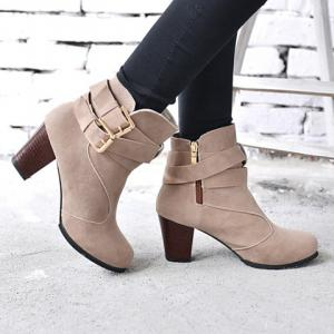 Side Zip Ankle Boots -