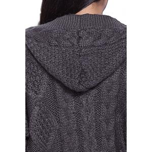 Cable Knit Hooded Cardigan -