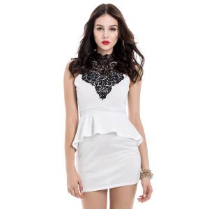 Mini Bodycon Womens Peplum Dress