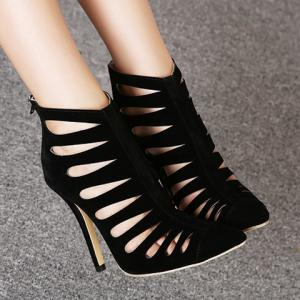 Elegant Stiletto Heel and Hollow Out Design Women's Pumps -