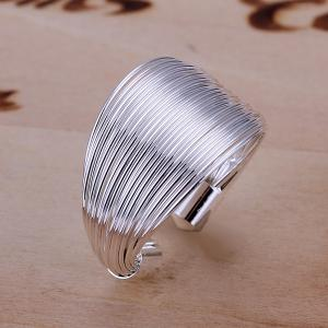 Silver Plated Coil Ring