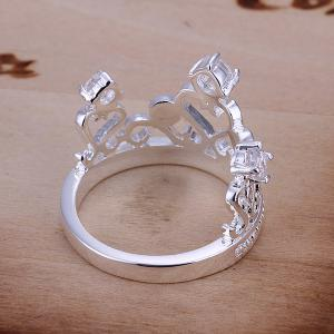 Rhinestone Channel Setting Crown Shape Ring -  US SIZE 8