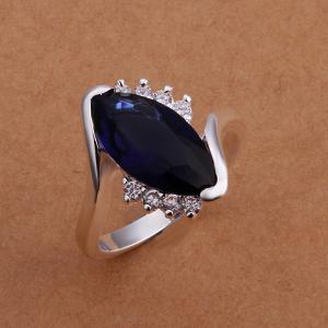Fashionable Embellished Black Diamond Women's Ring -