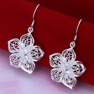 Pair Of Flower Shape Hook Earrings - As The Picture - 3.9cm*2.2cm