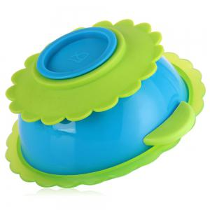 Flower Design Baby Sucker Bowl with Strong Suction Tableware for Kids -
