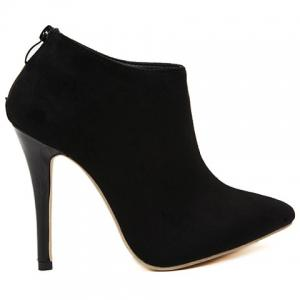 Gorgeous Pointed Toe and Stiletto Heel Design Women's Ankle Boots -
