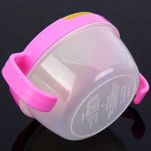 Spill Resistant Baby Snack Rice Bowl with Cover Double Handles -