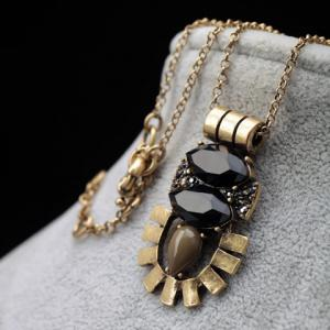 Faux Gem Embellished Sweater Chain -