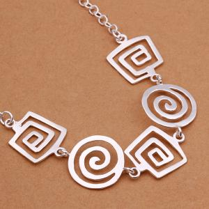 Stylish Paisley Silver Plated Necklace -