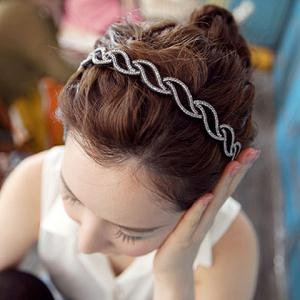Stylish Women's Openwork Rhinestone Embellished Hairband -