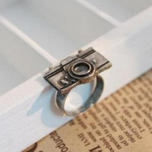 Camera Shape Embellished Ring -