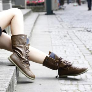 Lace Up Ruched Mid Calf Boots - BROWN 39