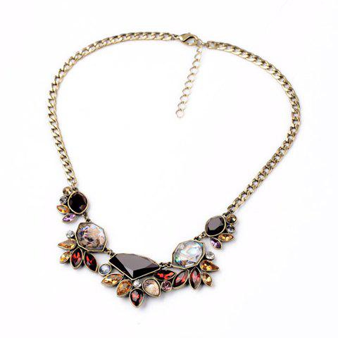 Sale Chic Secondary Color Gemstone Embellished Women's Necklace