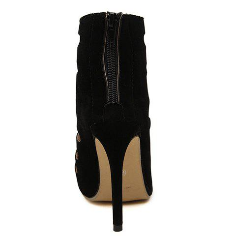 Affordable Elegant Stiletto Heel and Hollow Out Design Women's Pumps - 39 BLACK Mobile