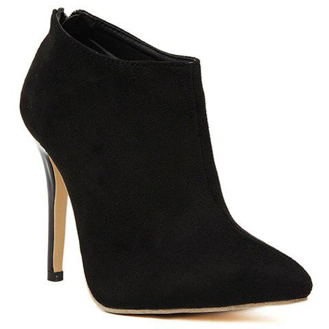 Unique Gorgeous Pointed Toe and Stiletto Heel Design Women's Ankle Boots
