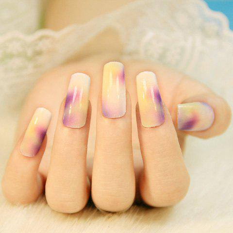 One Sheet Chic Various Color Block Pattern Design Nail Art Sticker от Rosegal.com INT