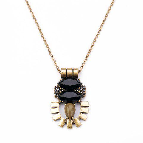 Shop Faux Gem Embellished Sweater Chain -   Mobile