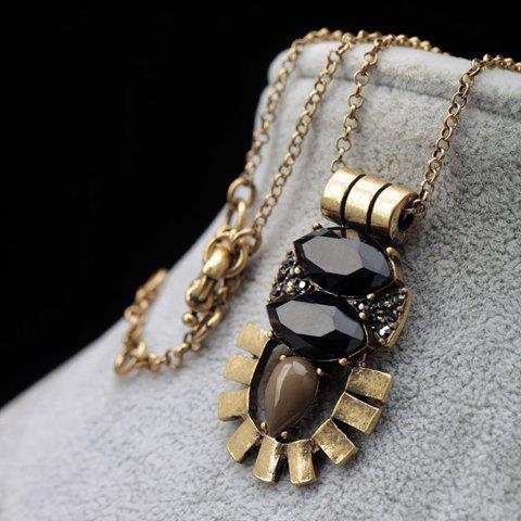 Best Faux Gem Embellished Sweater Chain -   Mobile