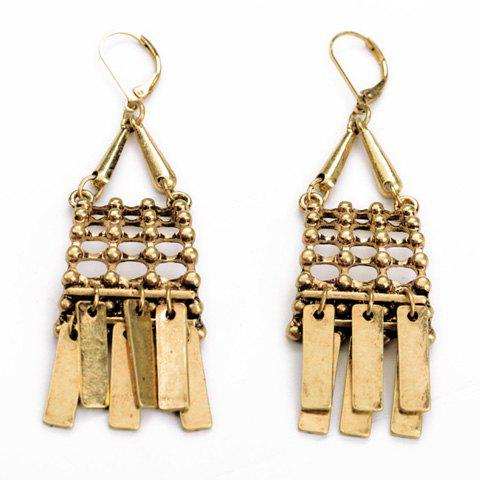 Cheap Pair of Ethnic Style Women's Solid Color Earrings
