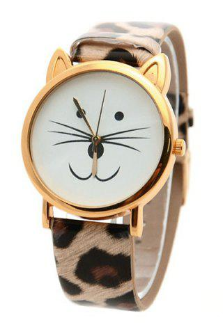 Best Cute Kitten Shape Watch For Women