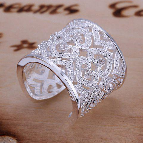Fancy Rhinestone Hollow Out Hearts Ring  US SIZE 8
