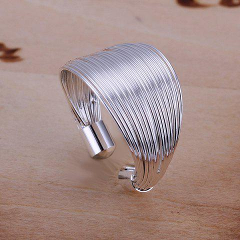 Shops Silver Plated Coil Ring -   Mobile