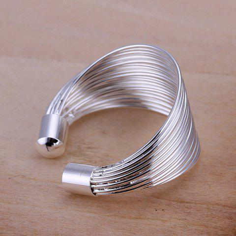 Sale Silver Plated Coil Ring -   Mobile